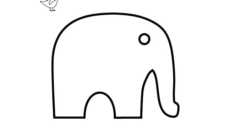 750x425 Simple Elephant Outline Drawing Basic