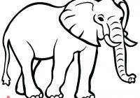 200x140 Elephant Outline Drawing Elephant Face Outline Elephant Clipart