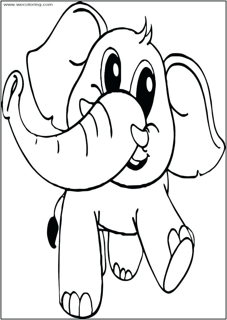 728x1026 Outline Of Elephant