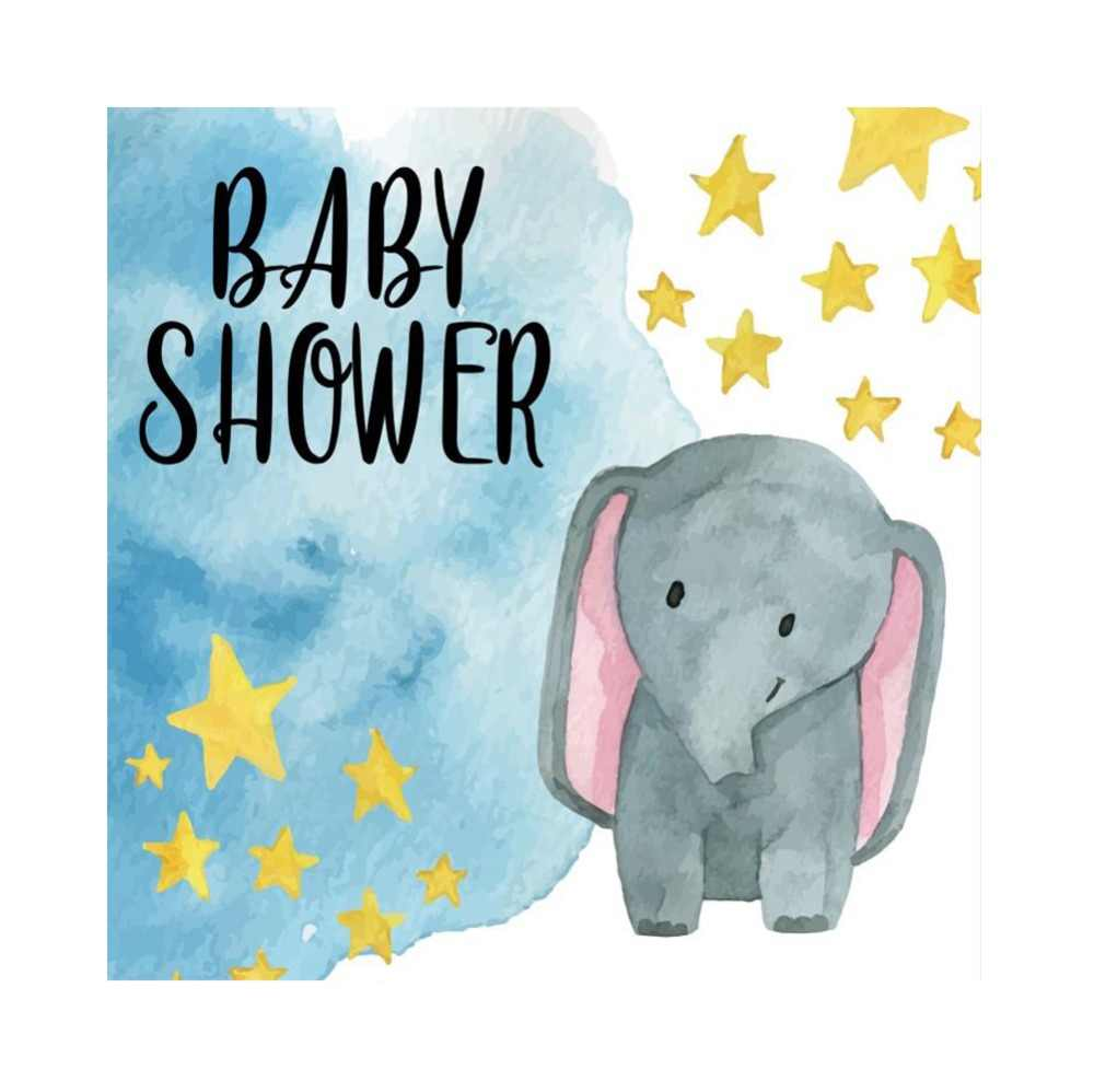1000x998 Detail Feedback Questions About Laeacco Elephant Baby Shower Gold
