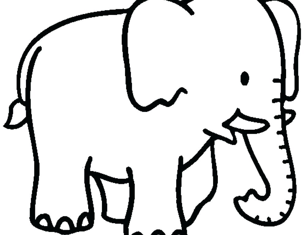 1000x768 Elephant Face Coloring