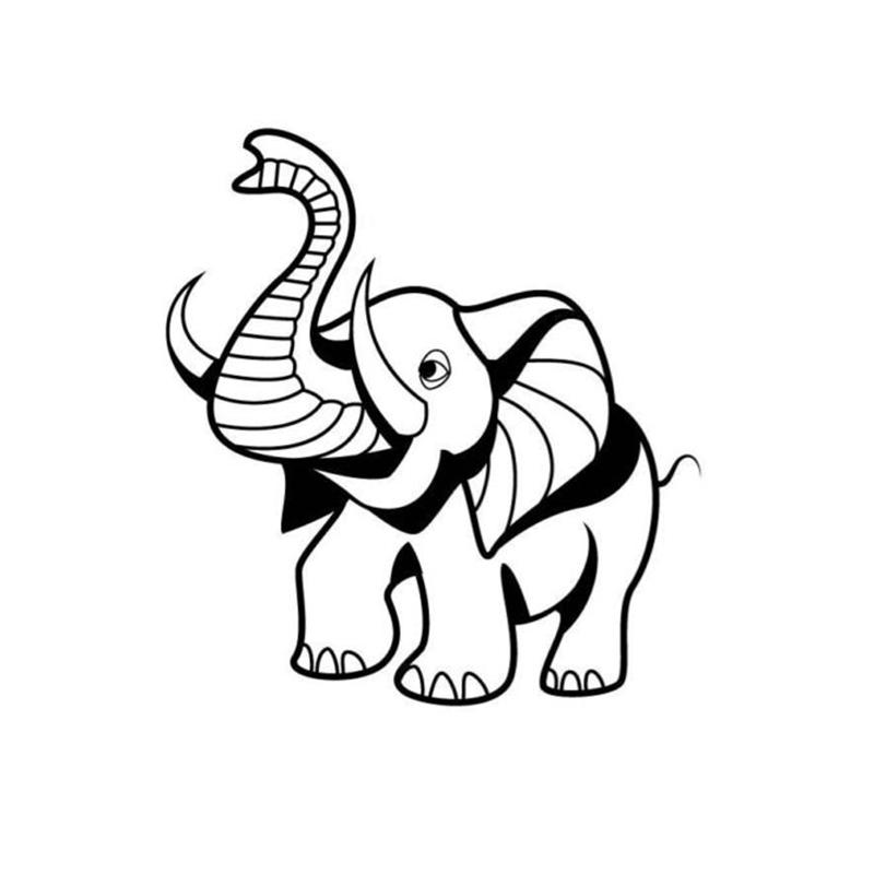 800x800 Elephant Car Sticker Based Car Packaging Accessories Product