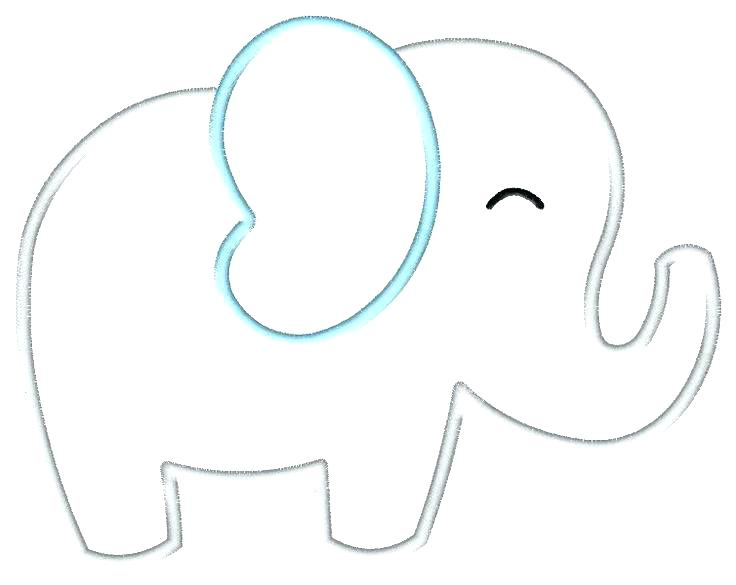 picture about Printable Elephant Stencil known as Elephant Routine Drawing Cost-free obtain least complicated Elephant