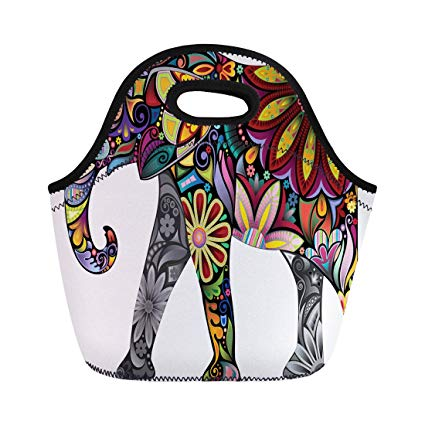 425x425 Semtomn Lunch Tote Bag Pattern The Cheerful Elephant