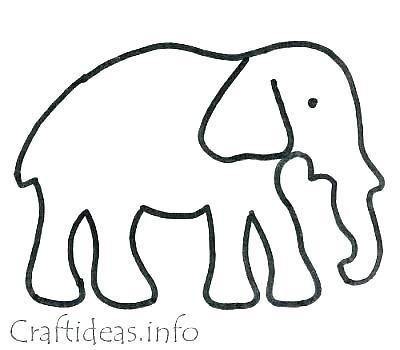 400x350 Stuffed Animal Template New Elephant Pattern Dinosaur Free Top Toy