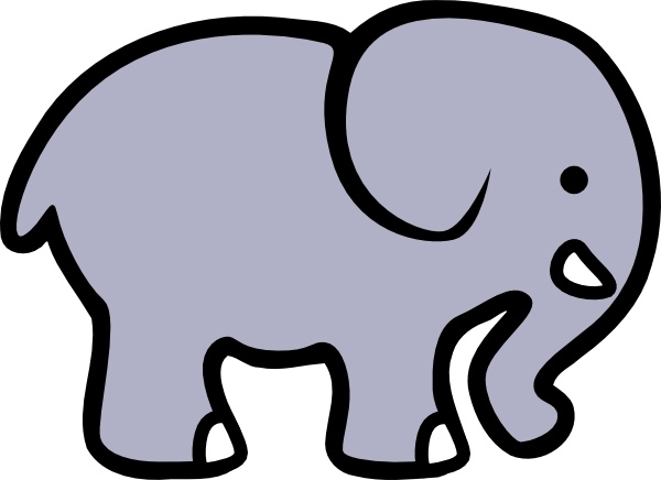 600x436 Cartoon Elephant Clip Art Free Vector In Open Office Drawing