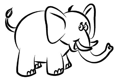 400x284 Elephant Drawing