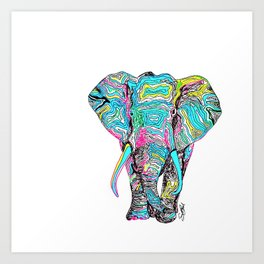 264x264 Elephant Drawing Art Prints