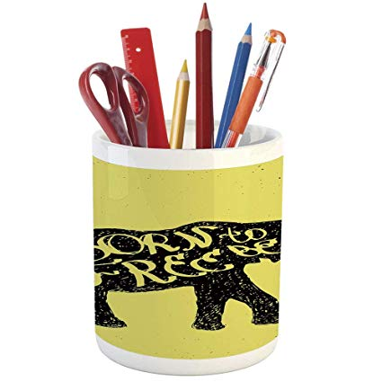 425x425 Pencil Pen Holder, Elephant, Printed Ceramic Pencil