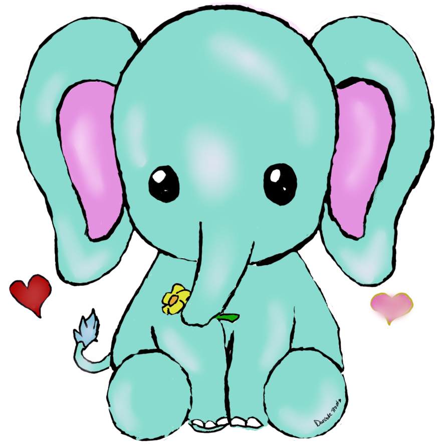 894x894 Collection Of Free Elephant Drawing Kawaii Download On Ui Ex
