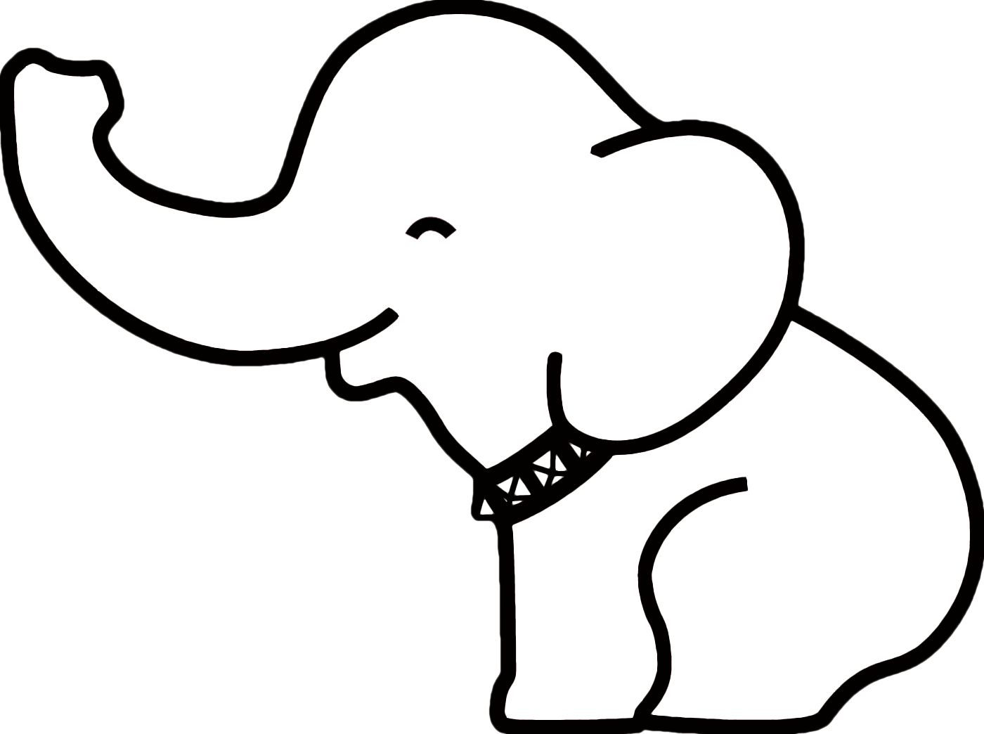 1400x1044 Collection Of Free Paw Drawing Elephant Download On Ui Ex