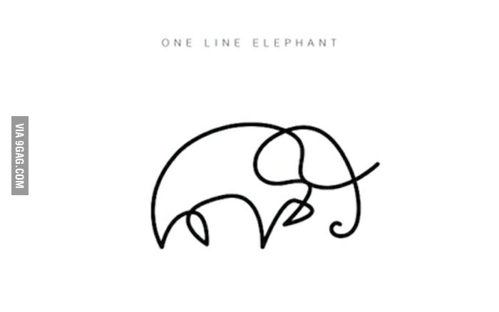 700x438 One Line Elephant For Those Who Want More Check My Profile