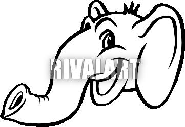 361x249 Smiling Elephant Head Profile
