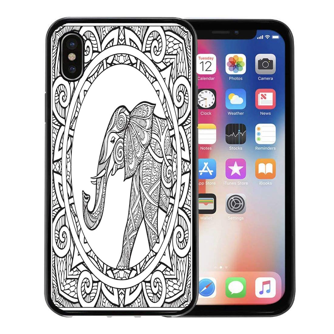 1100x1100 Emvency Phone Case For Apple Iphone Xs Case,boho