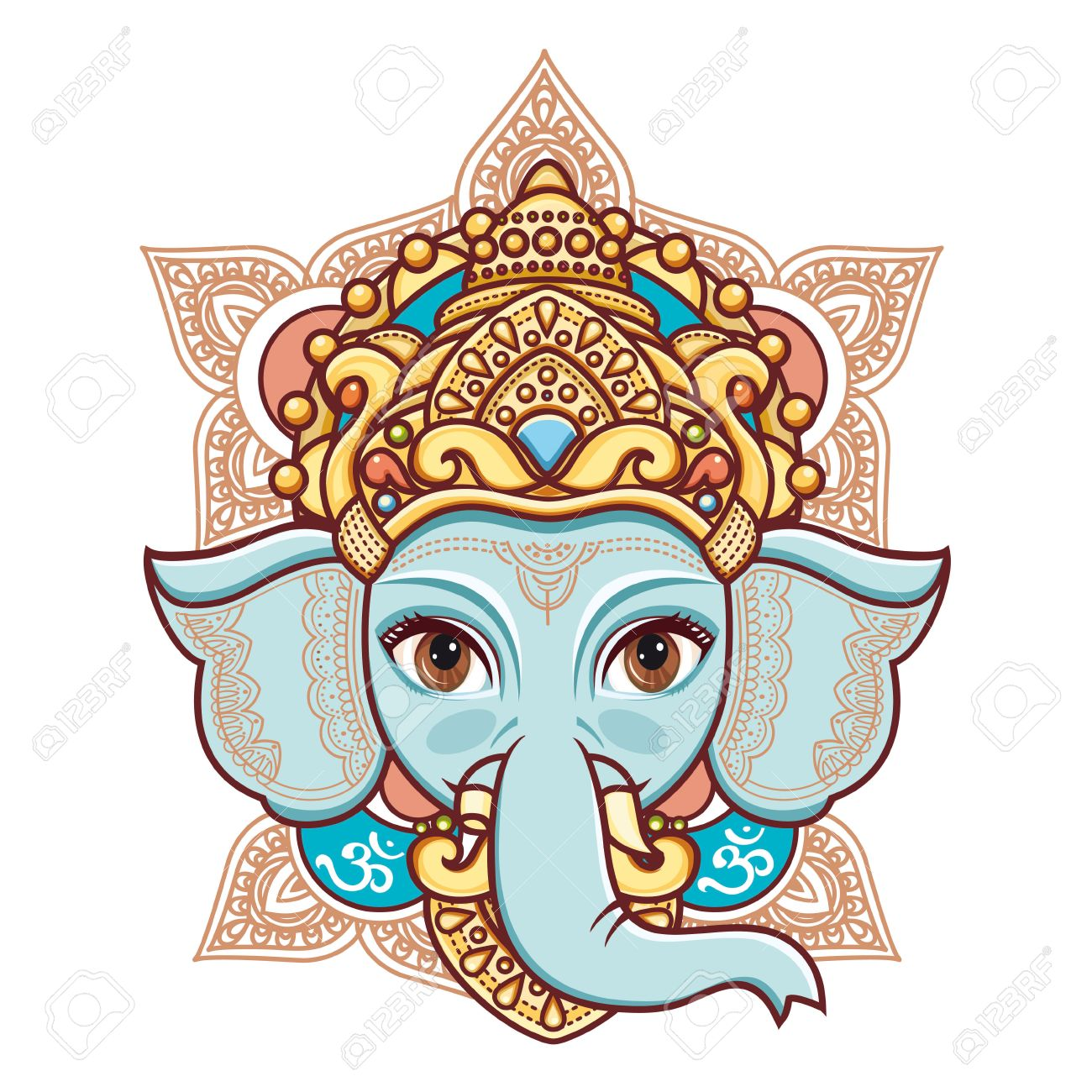 1300x1300 Huge Collection Of 'hindu Elephant God Drawing' Download More