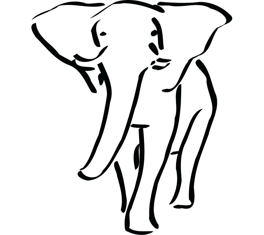 900x800 Outline Elephant Baby Elephant Outline Drawing Vector Outline