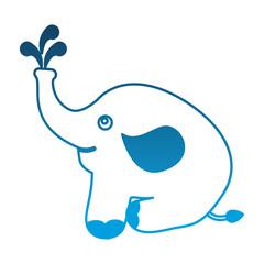 240x240 Cute Baby Elephant Sitting Animal Vector Illustration Drawing