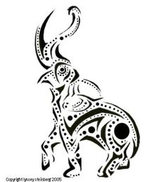 Elephant Tribal Drawing