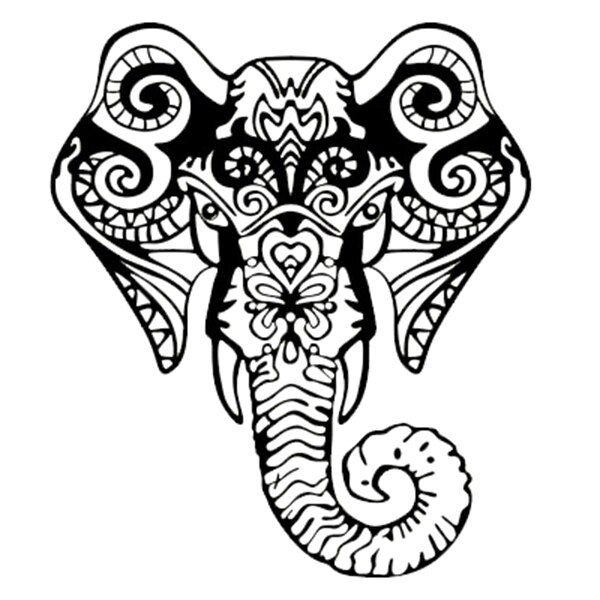 Elephant tribal. Drawing free download best
