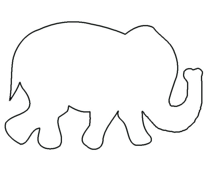 735x580 outline of elephant cute elephant template baby elephant outline