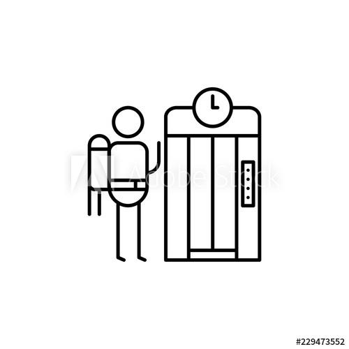 500x500 Elevator, Traveler Icon Element Of People In Travel Line Icon