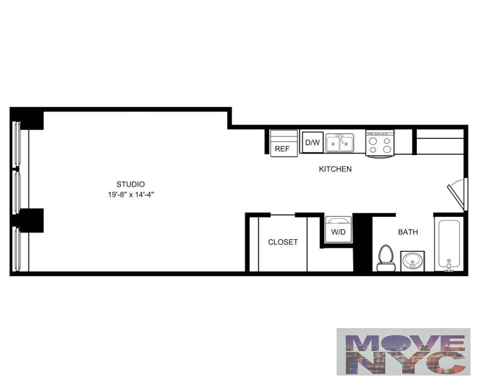 960x768 Nyc Apartments Financial District Studio Apartment For Rent