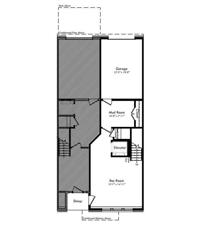 685x720 The Edison Model Elevator Townhome Condominium Van Metre Homes