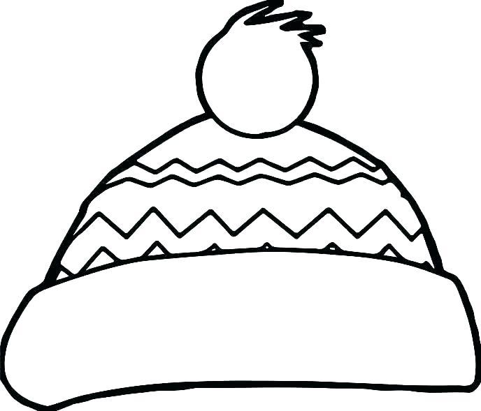 688x589 Elf Hat Coloring Sheet Beard Outline Admirably Horn Plenty Stock