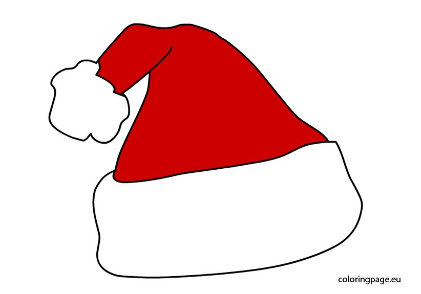 822x575 Elf Hat Coloring Template