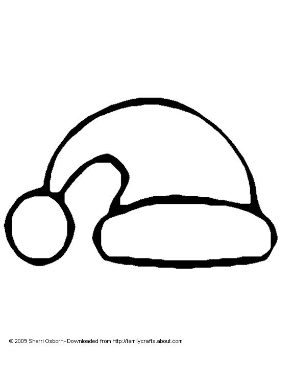 576x720 How To Draw Santa Hat For Kids Christmas Coloring Pages
