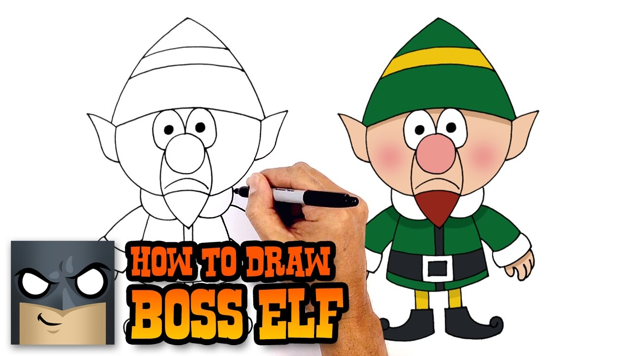 1280x720 How To Draw Boss Elf Christmas Drawing Lesson