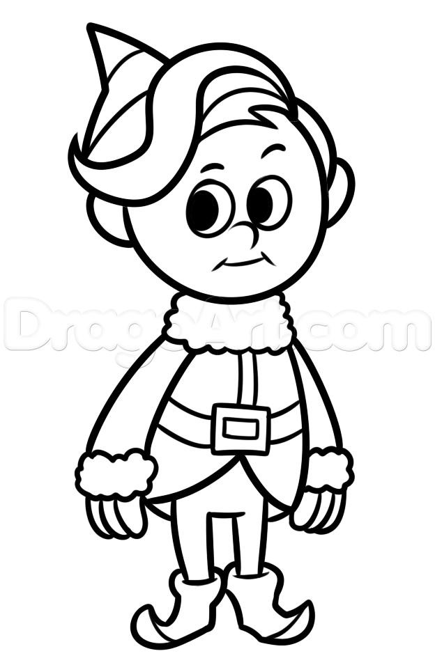 624x955 How To Draw Hermey, Hermey The Elf, Step
