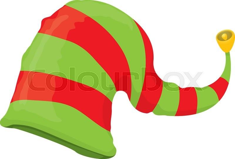 800x540 Cartoon Green Christmas Elf Hat Stock Vector Colourbox