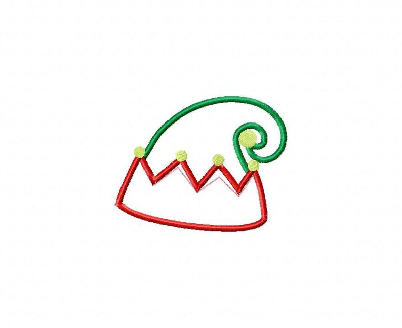 794x648 Christmas Elf Hat Applique Machine Embroidery Design Sizes Etsy