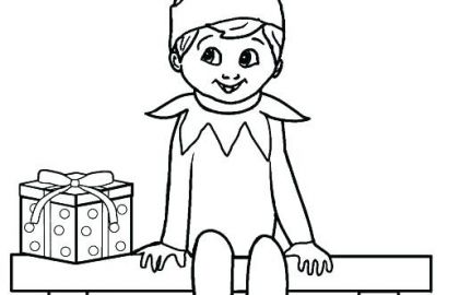 420x270 Elf On A Shelf Coloring Pages Free