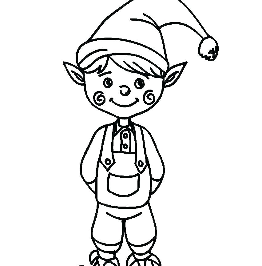 852x864 Elf On The Shelf Coloring Pages Elf On The Shelf Coloring