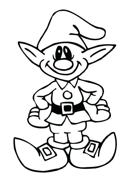 528x790 Elf Pictures To Color Elf Elf On Shelf Coloring Pictures