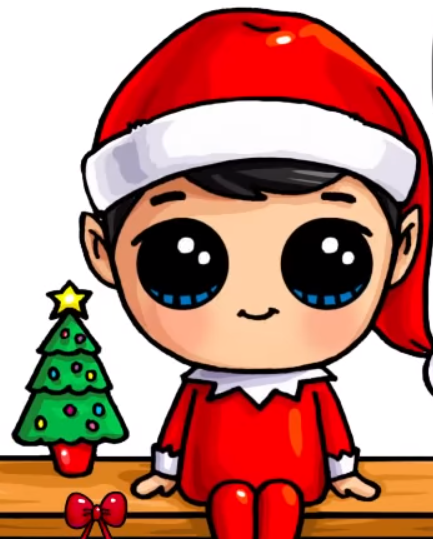 433x539 Pr Draw An Elf On The Shelf Easy And Cute Unique Creations