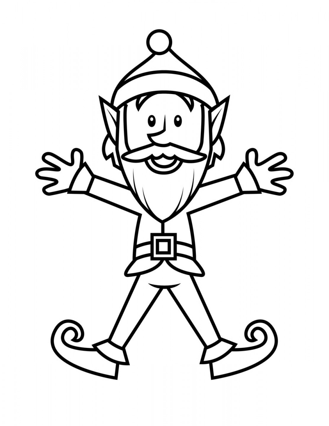 1112x1440 Free Printable Elf Coloring Pages Intricate On The Shelf For Kids
