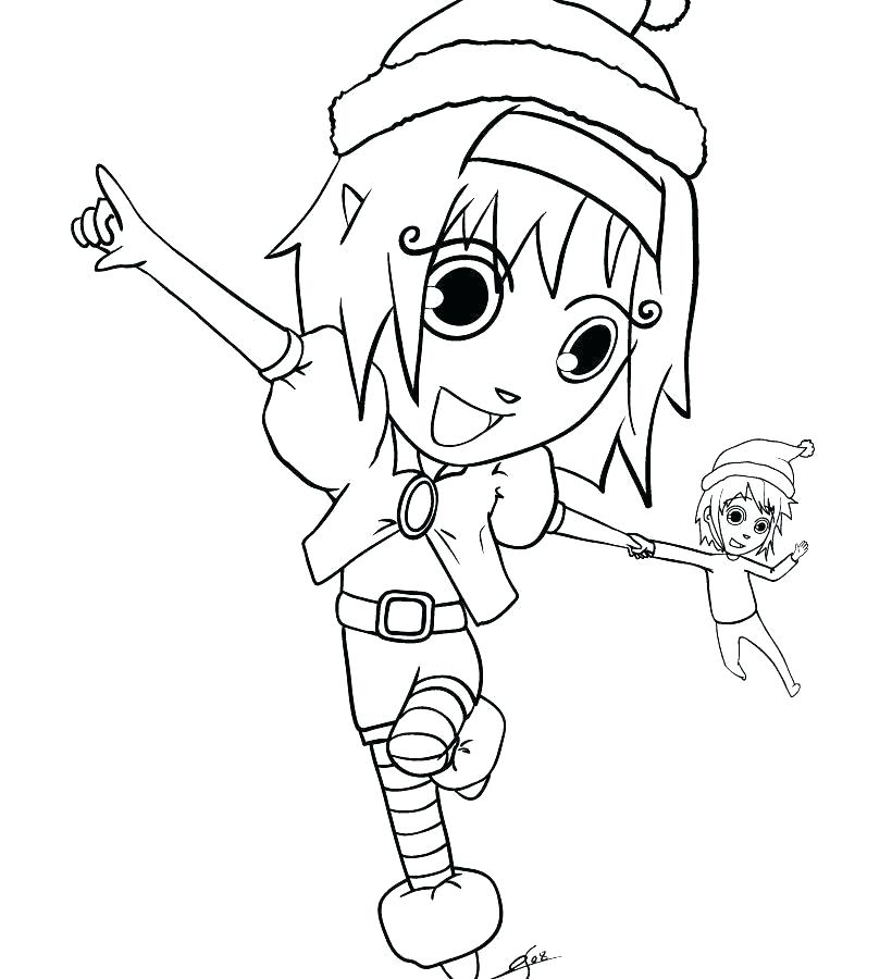 820x900 Printable Elf Coloring Pages Elf Coloring Pages Girl On The Shelf