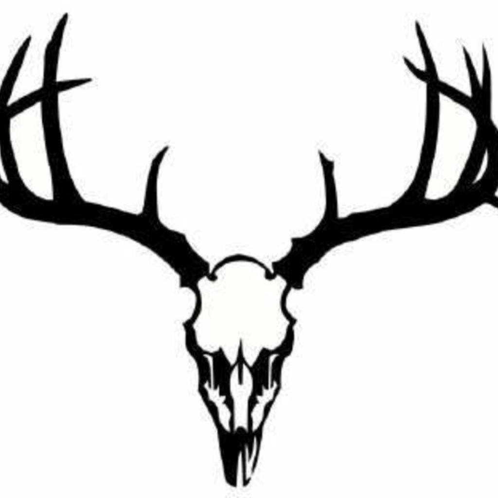 1024x1024 Deer Skull Silhouette Christmas Clipart House Clipart Online