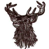 200x200 Elk Head Line Drawing