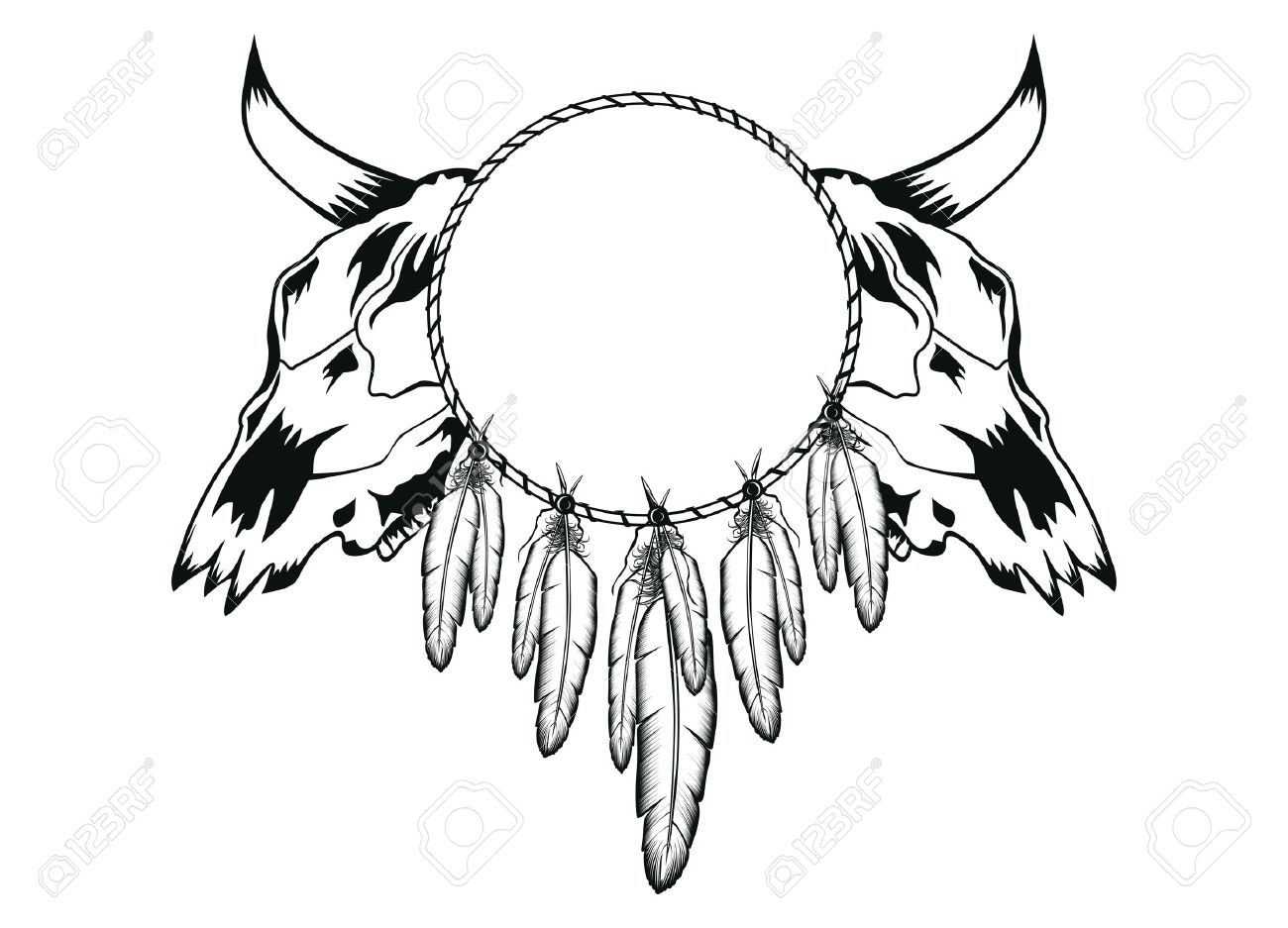 1300x937 Skull Drawing Side View Vector Bull Pics Head With Roses Elk