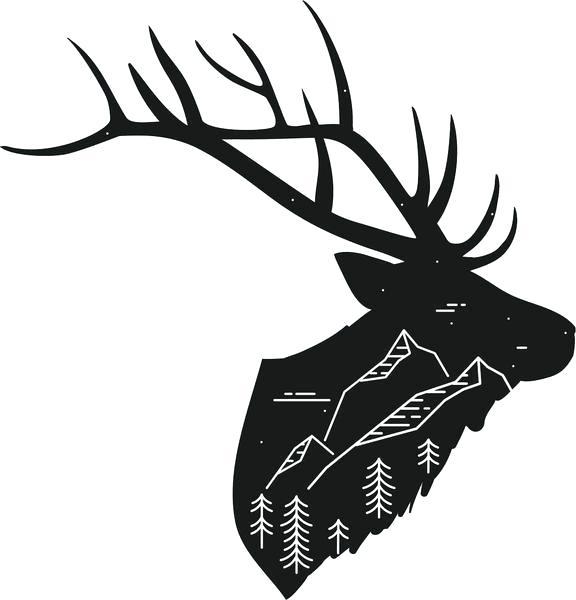 576x600 Moose Drawings