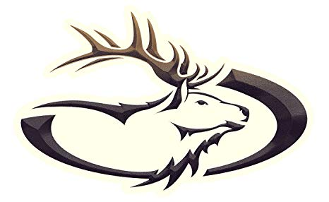 466x286 Heartland Rv Trailer Elk Head Decal Graphic