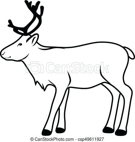 444x470 drawings of reindeer reindeer v simple reindeer drawing step