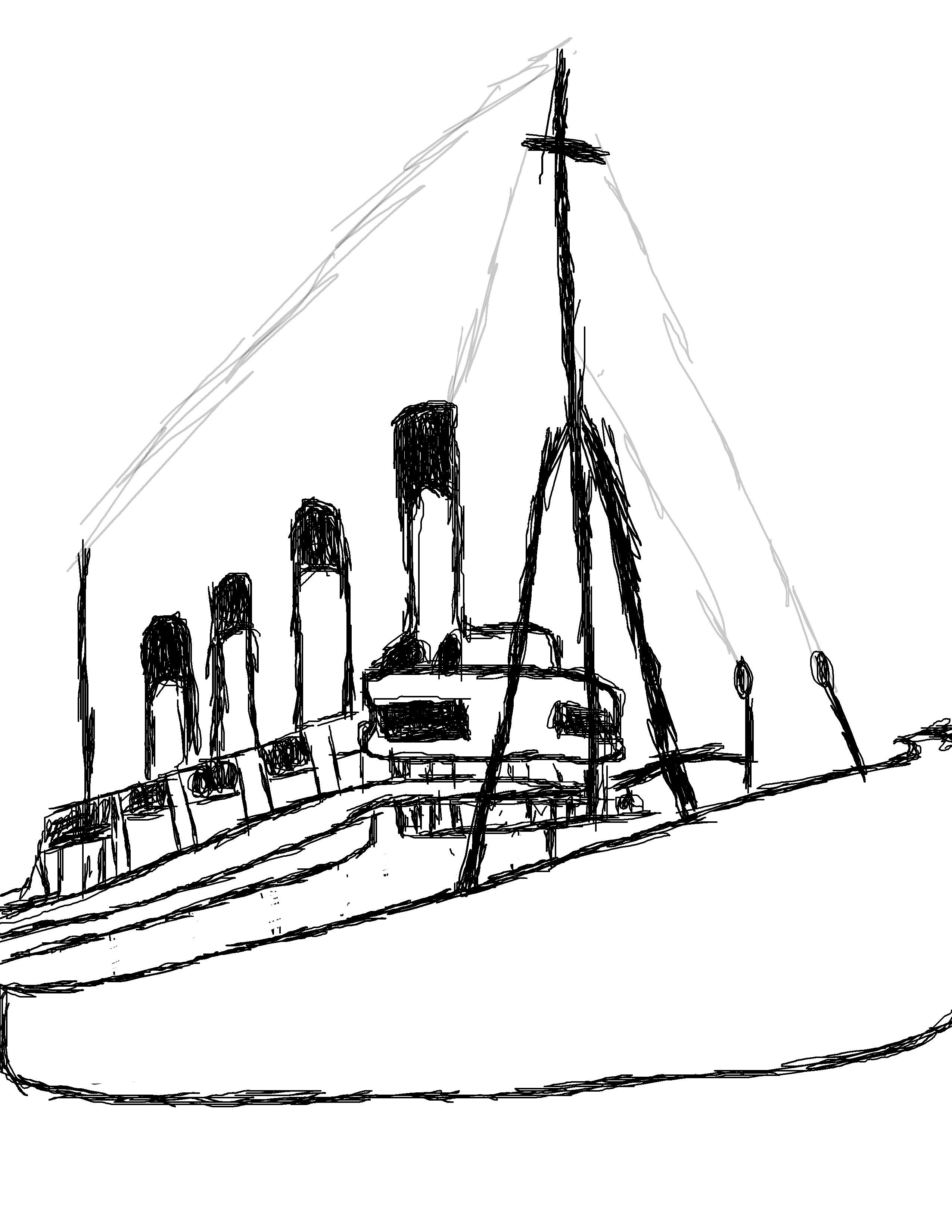 Ellis Island Drawing