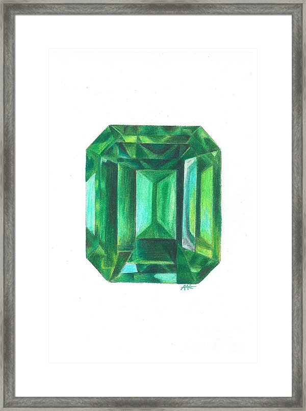600x807 Emerald Facet Framed Print