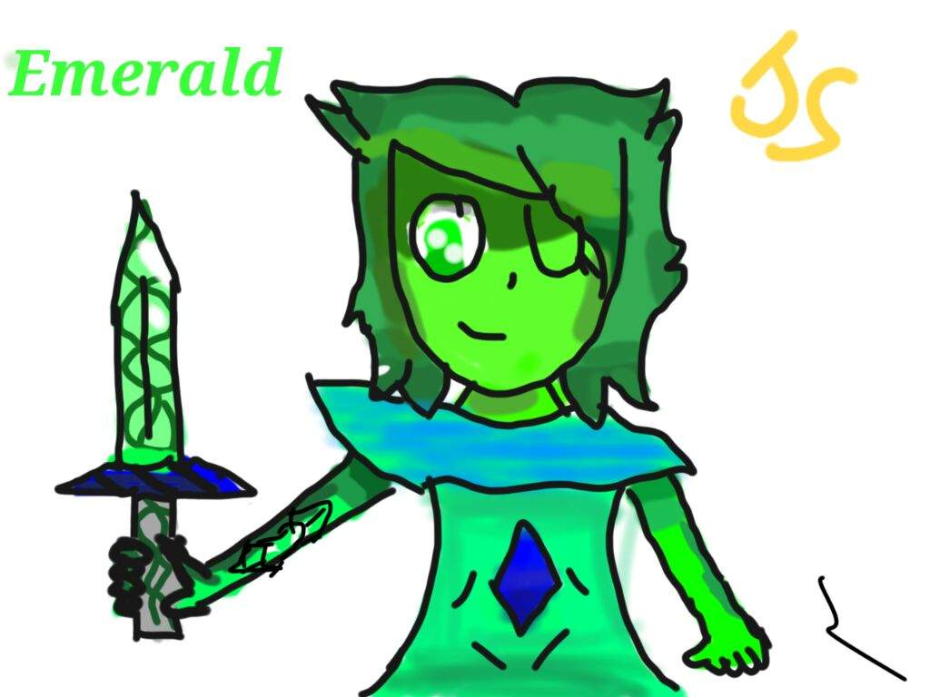 1024x768 Emerald Re Draw On Tablet! Steven Universe Amino