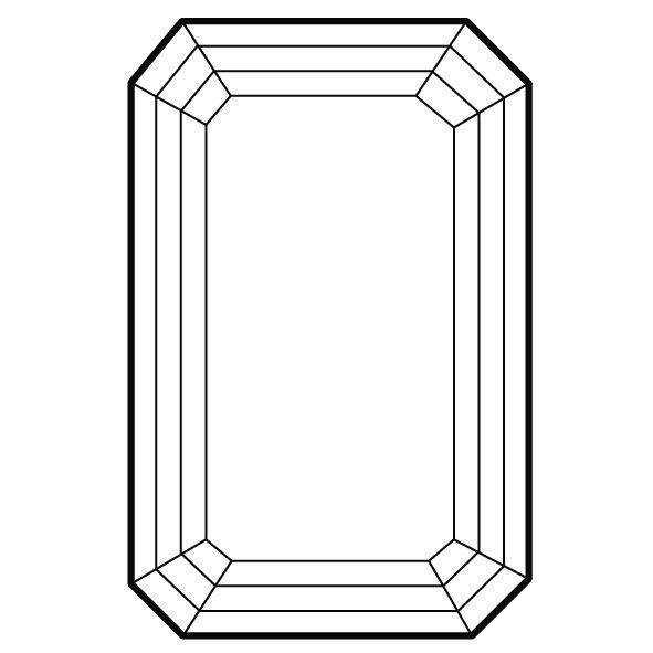 591x591 Shape Emerald Cut The More Rectangular, The Better